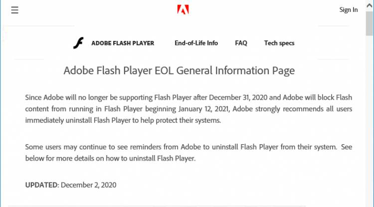 The day has come: Flash is EOL and dead